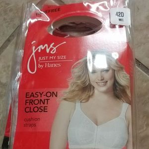 2 JMS Easy-on front close wireless bras. 42D. NWT.